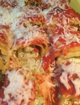 Recipe Card: Chicken Pesto Lasagna Rolls