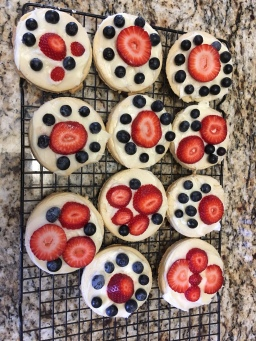 Recipe Card: Red, White and Blue Cookies
